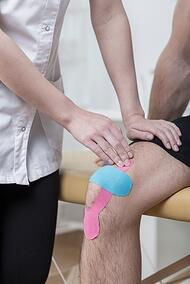 Kinesiology taping as first aid